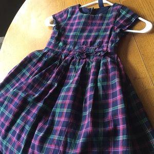 Gap dress 4T black w/ green, red & lavender plaid